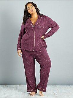 Pyjama - Pyjama en jersey imprimé cravate