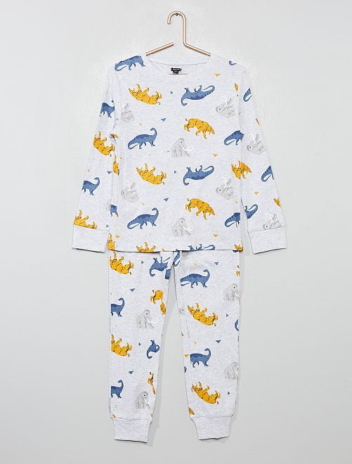 Pyjama en jersey imprimé                                                                                         gris/animaux