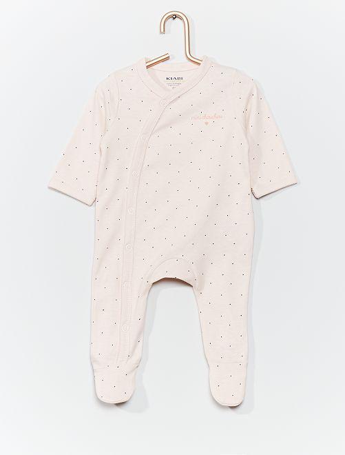 Pyjama en jersey imprimé                                                                                         rose/pois