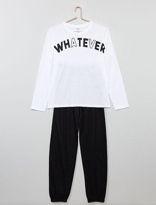 Pyjama en jersey                                         noir