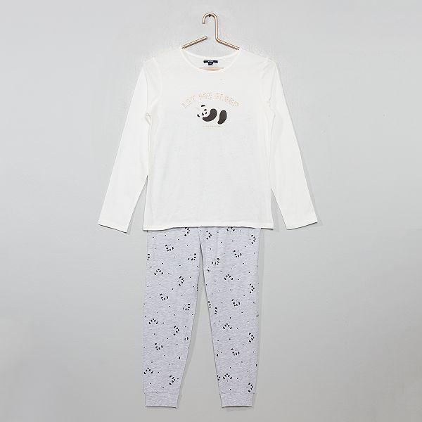 Pyjama en jersey 'panda' pailleté