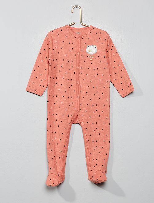 Pyjama en jersey 'rock'                             rose