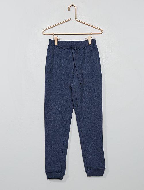 Pyjama en molleton chaud                                         bleu