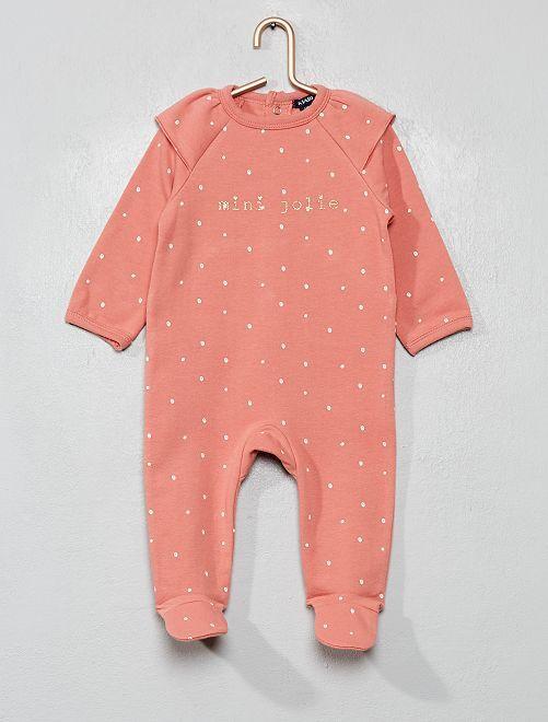 Pyjama en molleton doux et chaud                                         rose blush