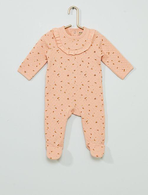 Pyjama en molleton éco-conçu                             rose