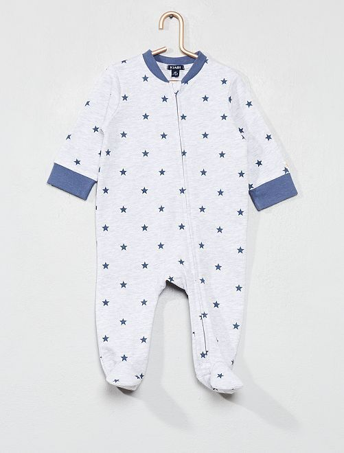 Pyjama en molleton imprimé                                         gris Bébé garçon