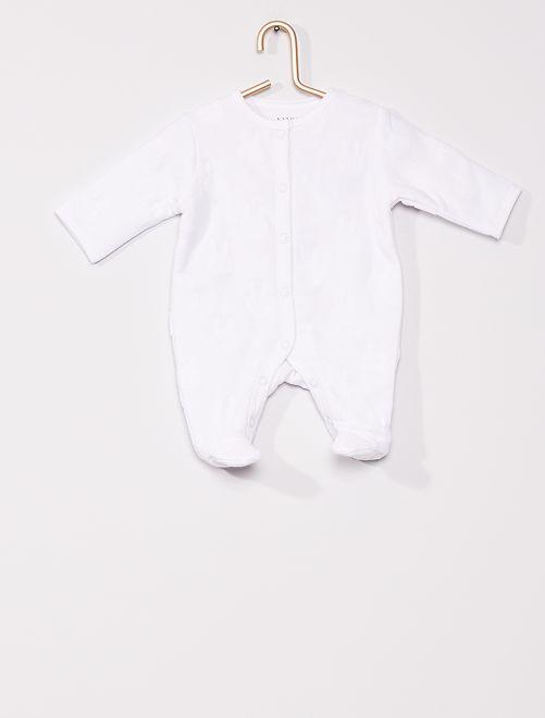Pyjama en molleton 'lapin'                                         blanc