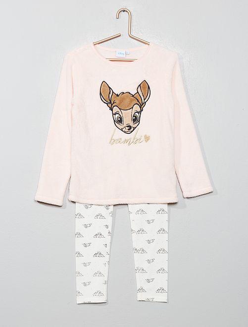 Pyjama en polaire 'Bambi'                             rose