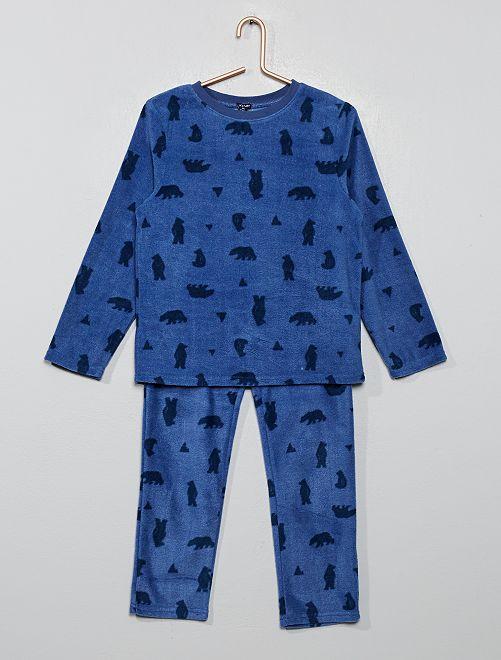 Pyjama en polaire                                                                 bleu ours