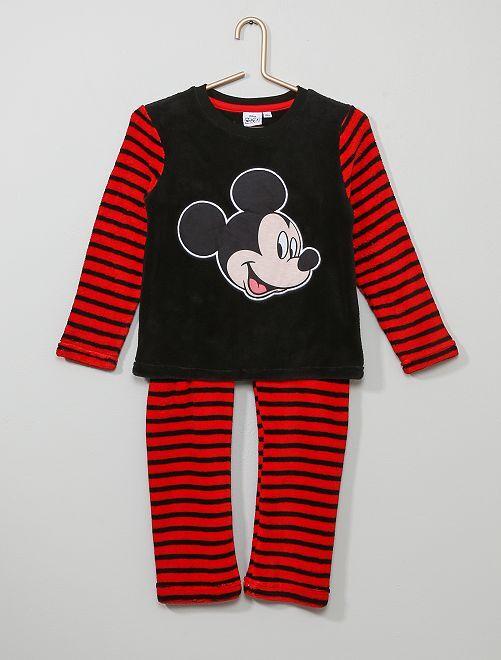 Pyjama en polaire douce 'Mickey'                                         noir/rouge