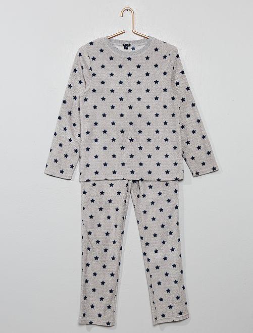 Pyjama en polaire                                                                 gris étoiles