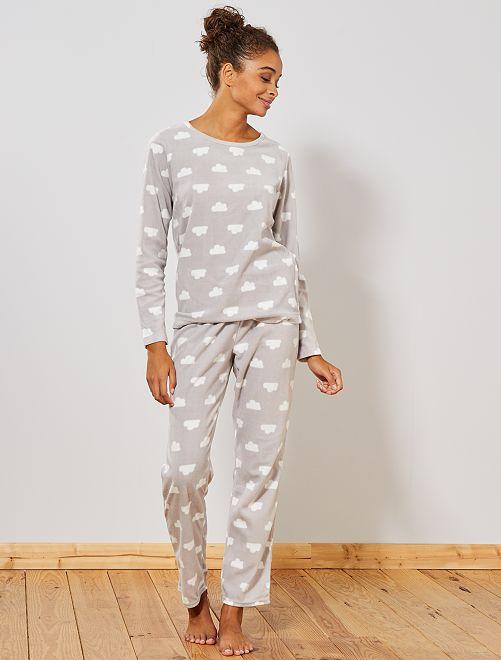 Pyjama en polaire                                                     gris