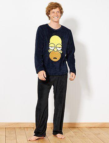 Pyjama en polaire 'Homer Simpson' - Kiabi