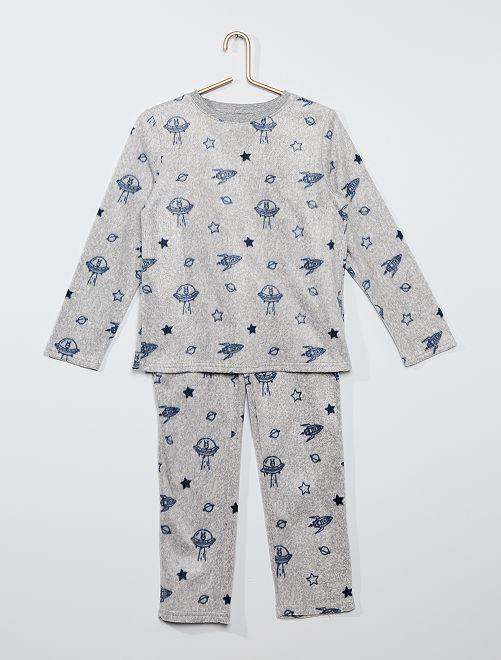 Pyjama en polaire imprimé 'galaxie'                                                     gris chiné galaxie