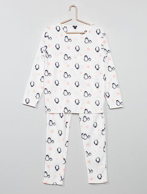 Pyjama en polaire 'licorne'                                                                 gris pingouin