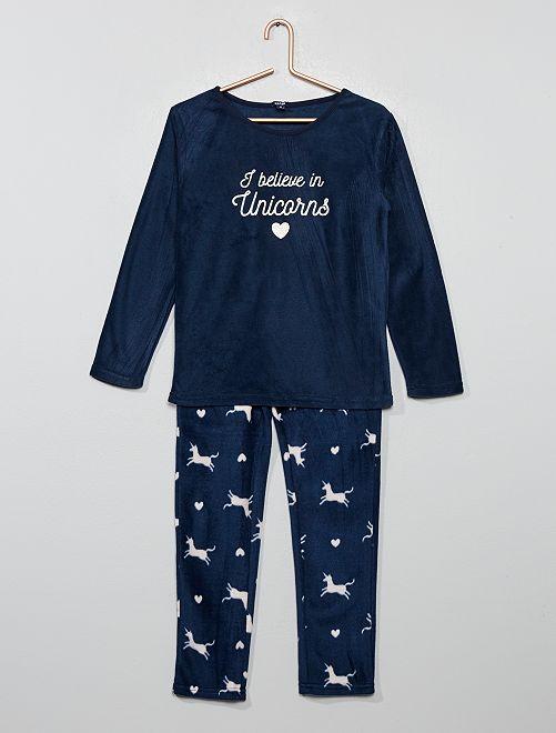 Pyjama en polaire                                                                 marine