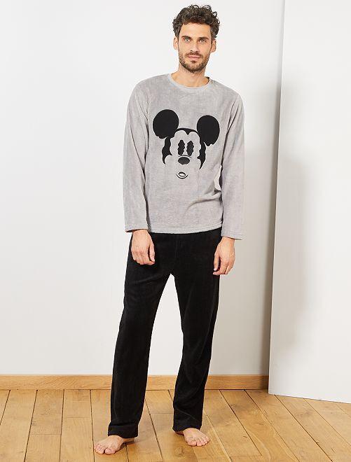 Pyjama en polaire 'Mickey'                                         gris/noir