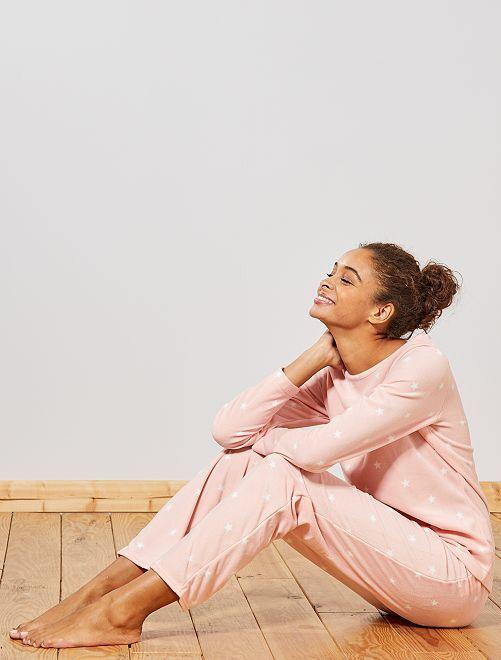 Pyjama en polaire                                                                 rose