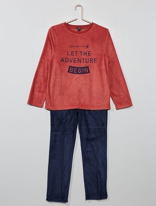 Pyjama en polaire                                 rouge