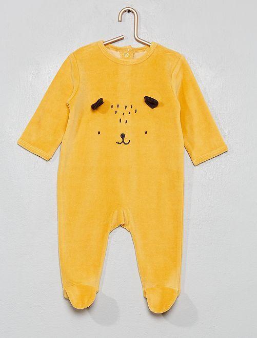 Pyjama en velours ''                                                                                                     jaune