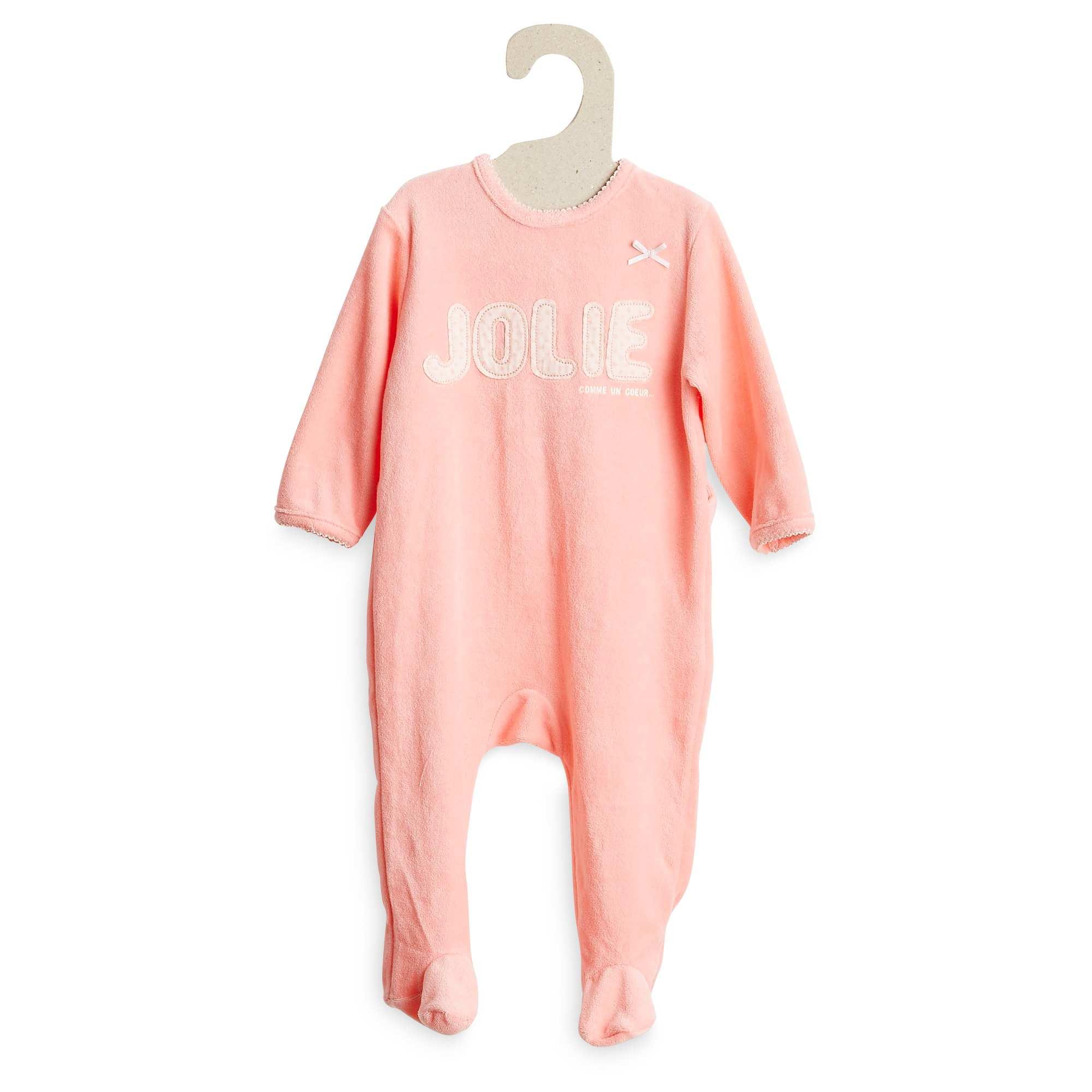 pyjama en velours b b fille kiabi 10 00. Black Bedroom Furniture Sets. Home Design Ideas