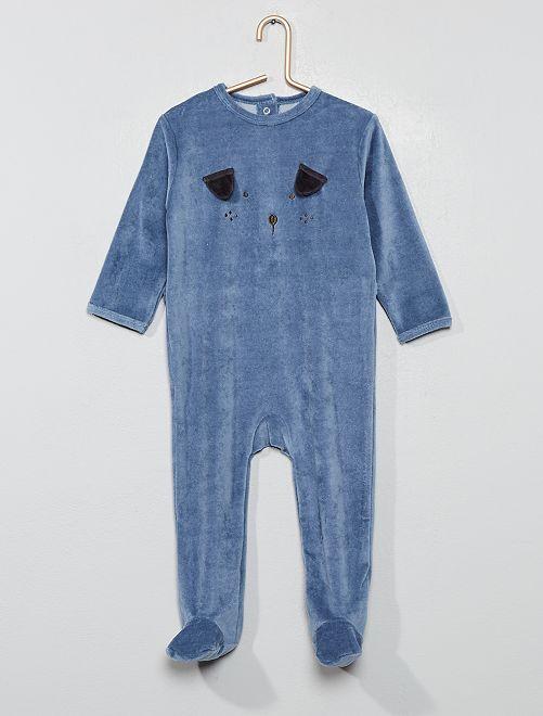 Pyjama en velours ''                                             bleu