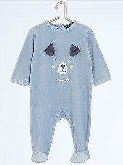 Garçon 0-36 mois Pyjama en velours 'chien'