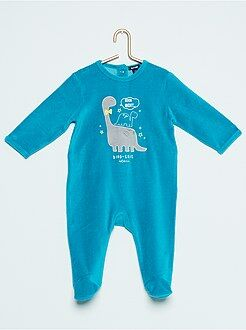 Pyjama, peignoir - Pyjama en velours 'dinosaure'