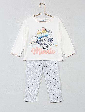 Fille 0-36 mois - Pyjama en velours et jersey  Minnie  - Kiabi 6457b360937