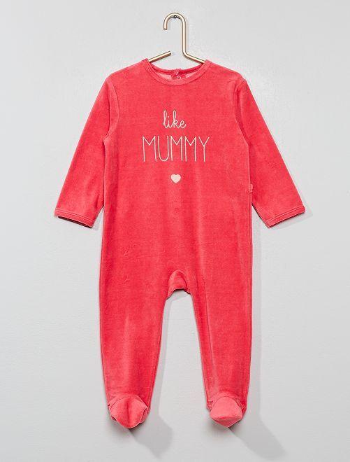 Pyjama en velours                                                                 fuschia