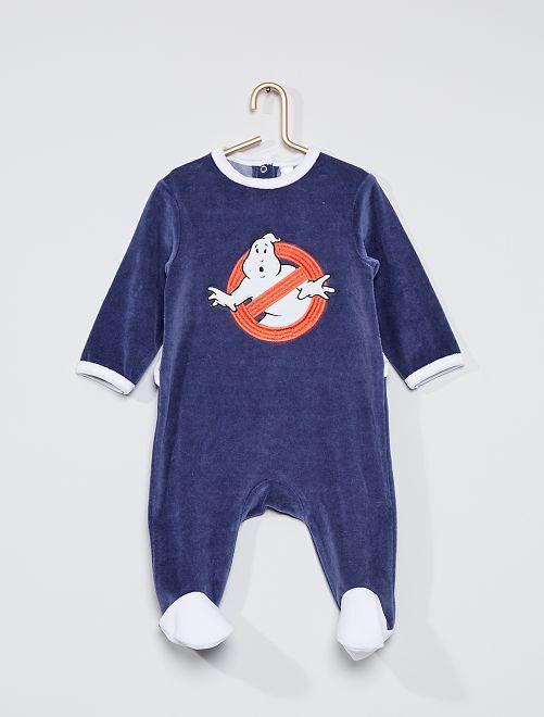 Pyjama en velours 'Ghosbusters'                             bleu