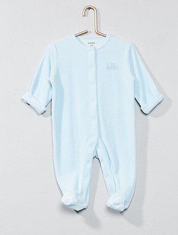 2ebe22b2db5ae Pyjama en velours  hello  en coton biologique - Kiabi