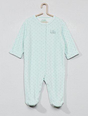 f9ea330c0f741 Garçon 0-36 mois - Pyjama en velours  hello  en coton biologique -