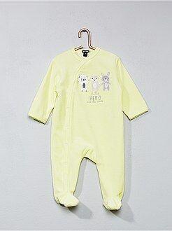 Garçon 0-36 mois Pyjama en velours imprimé 'animaux'