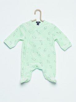 Garçon 0-36 mois Pyjama en velours imprimé 'dinosaure'