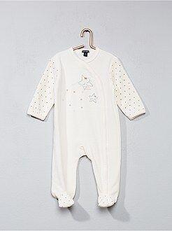 Pyjama, peignoir - Pyjama en velours imprimé étoile