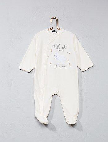Pyjama en velours imprimé `mouton`