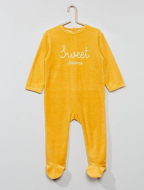 Pyjama en velours                                                                 jaune