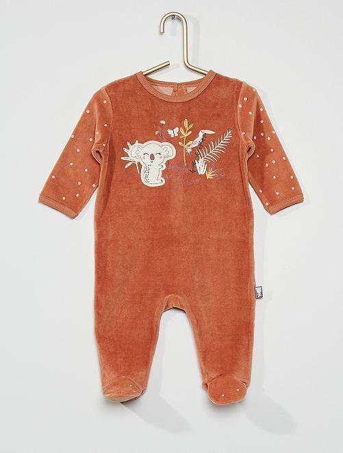 Pyjama en velours 'koala'                             marron