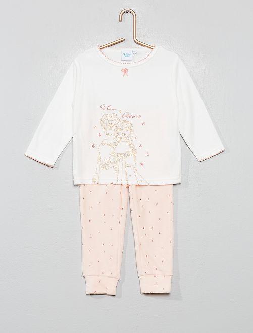 Pyjama en velours 'La Reine des Neiges'                                                     blanc elsa