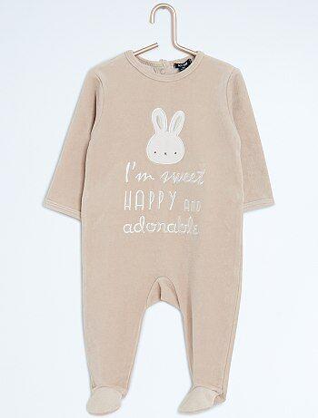 Pyjama en velours `lapin`