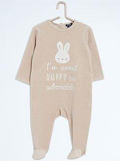 Garçon 0-36 mois Pyjama en velours 'lapin'