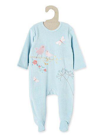 pyjama en velours libellule b b fille kiabi 13 00. Black Bedroom Furniture Sets. Home Design Ideas