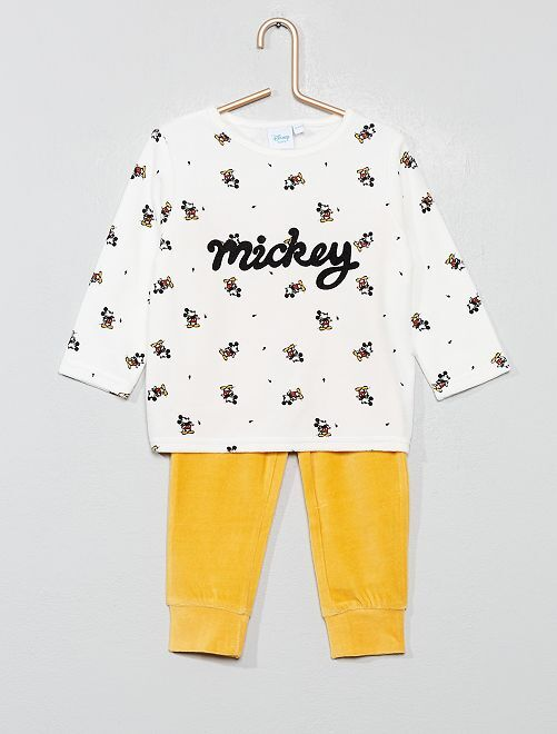Pyjama en velours 'Mickey'                                                     écru Mickey