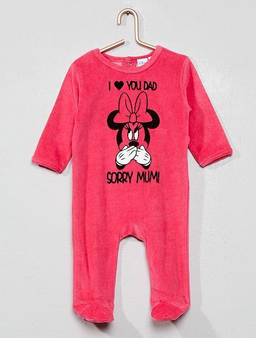 Pyjama en velours 'Mickey'                                         fuchsia