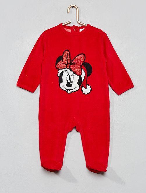 Pyjama en velours 'Minnie'                                         rouge