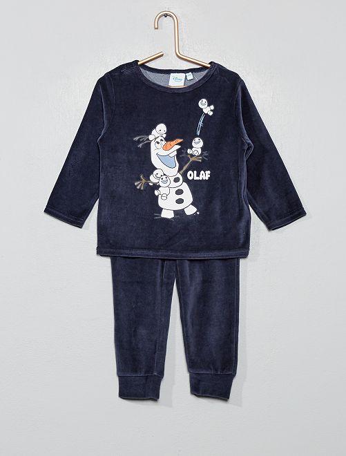 Pyjama en velours 'Olaf'                                                     bleu olaf