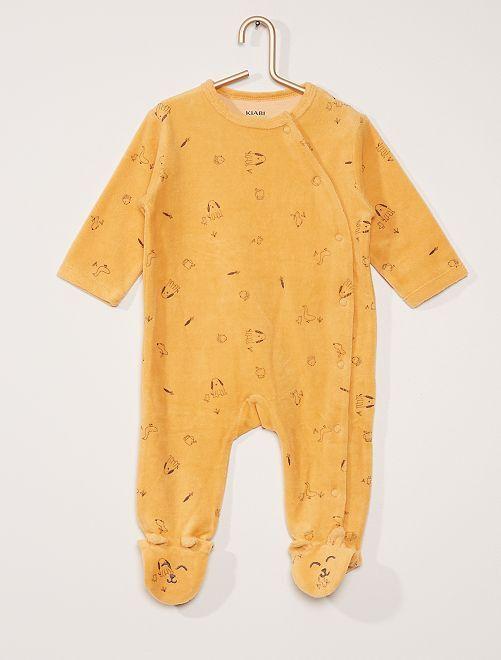 Pyjama en velours                                                                 orange