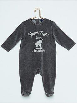 Garçon 0-36 mois Pyjama en velours 'ours'