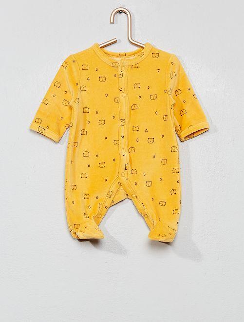Pyjama en velours 'étoiles                     jaune